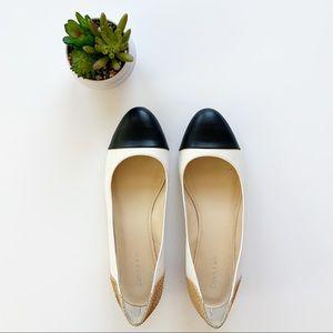 Calvin Klein | Black and White Flat Shoes Sz 8